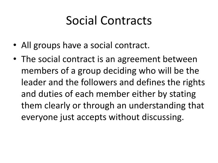 Ppt Social Contracts And Social Control Powerpoint Presentation