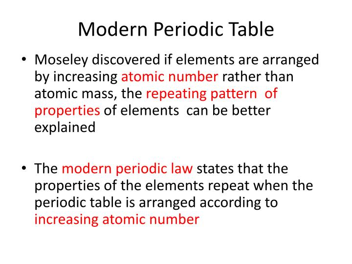 Ppt The Periodic Table Classification Of Elements Powerpoint