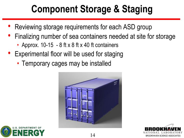Component Storage & Staging