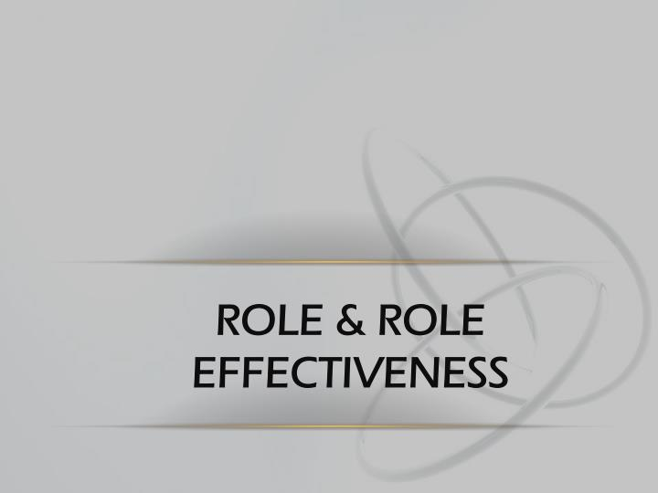 role role effectiveness n.