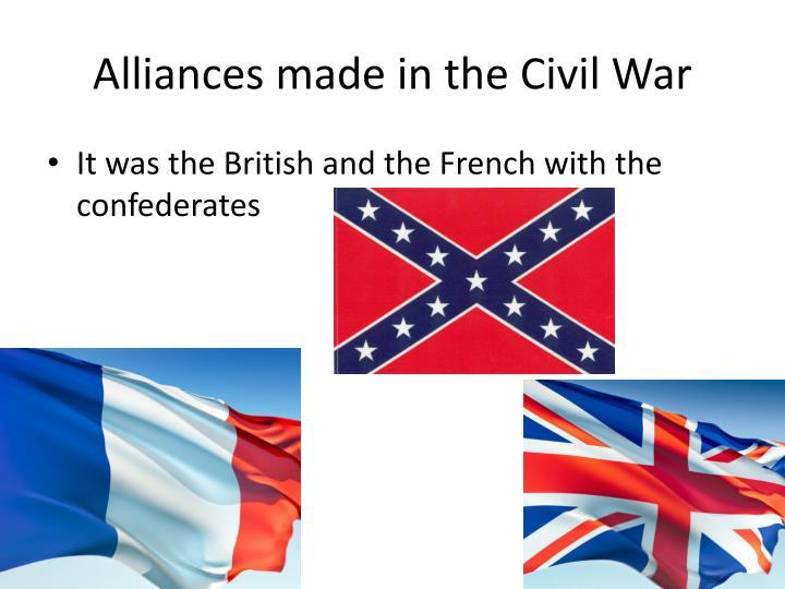 Alliances made in the Civil War