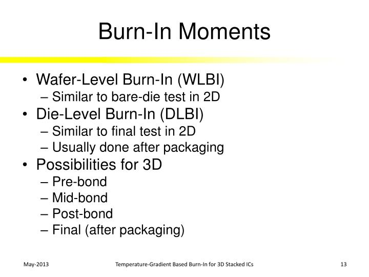Burn-In Moments