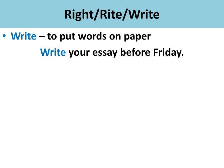Write right rite