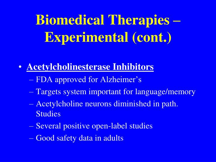 Biomedical Therapies – Experimental (cont.)