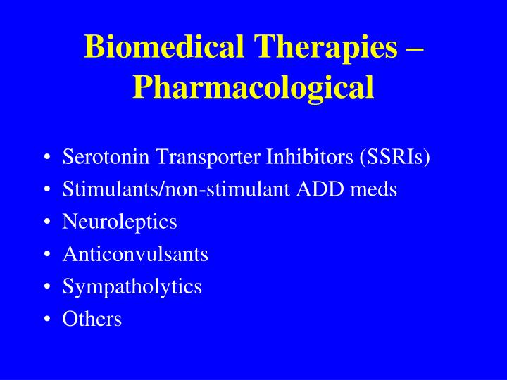 Biomedical Therapies – Pharmacological