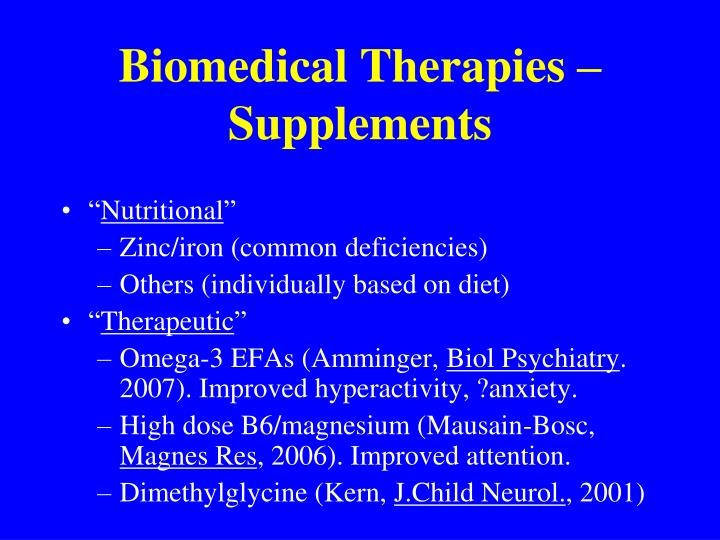 Biomedical Therapies – Supplements