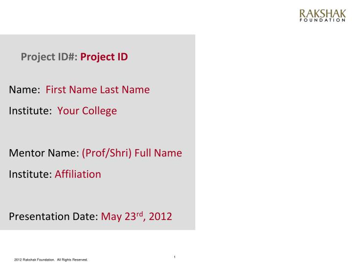 project id project id n.