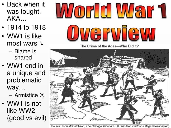 an analysis of the many causes to the world war one Big picture analysis & overview of causes of the cold war had not one but two governments-in-exile and more than 20 million soviet citizens died in world war ii.