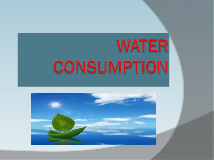 water consumption n.