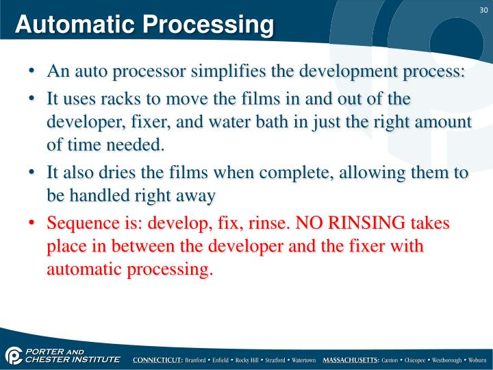 Automatic Processing
