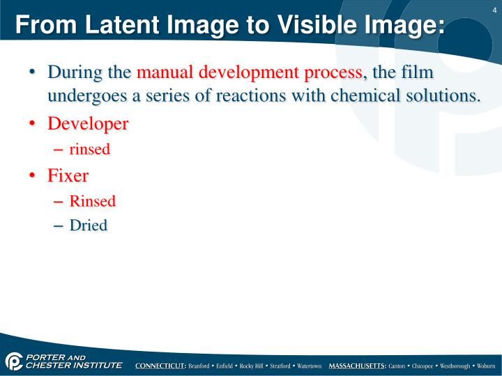 From Latent Image to Visible Image: