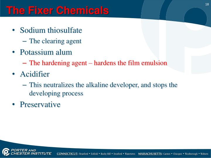 The Fixer Chemicals