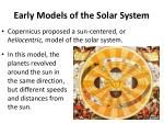 early models of the solar system2