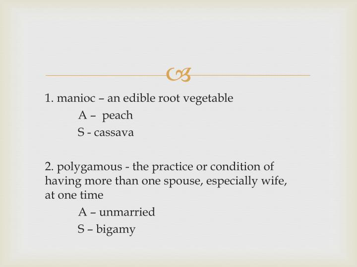 1. manioc