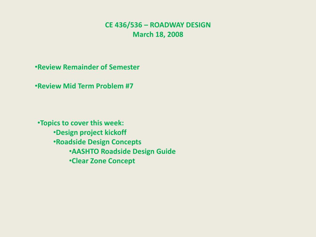Ppt Ce 436 536 Roadway Design March 18 2008 Powerpoint Presentation Id 2634735,Marriage Simple Hand Work Blouse Designs Images