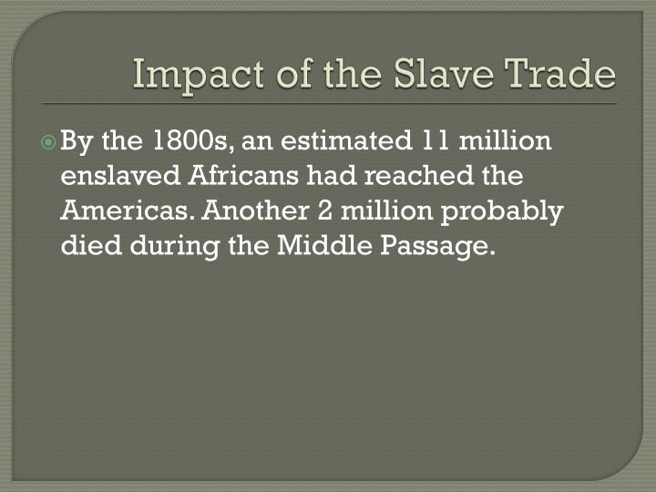 Impact of the Slave Trade