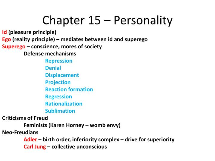 Chapter 15 – Personality