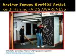 another famous graffiti artist keith harring aids awareness