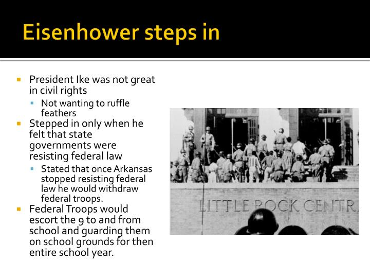 Eisenhower steps in