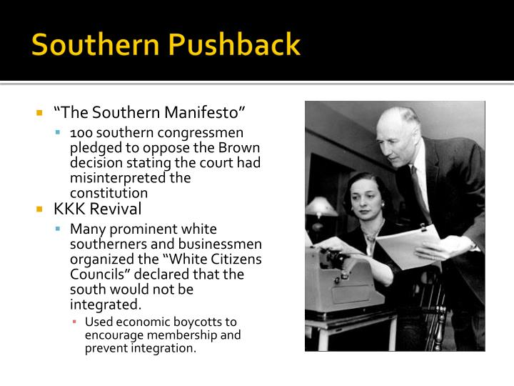 Southern Pushback