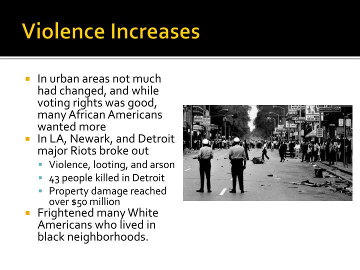 Violence Increases