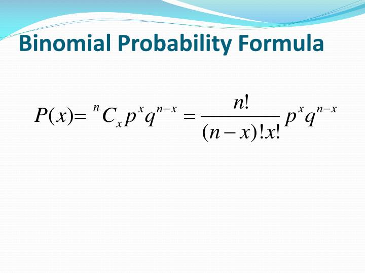 probability solution formula essay As in any other statistical areas, the understanding of binomial probability comes with exploring binomial distribution examples, problems, answers, and solutions from the real life it is not too much to say that the path of mastering statistics and data science starts with probability.