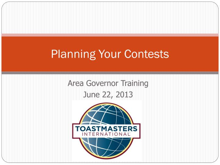 planning your contests n.