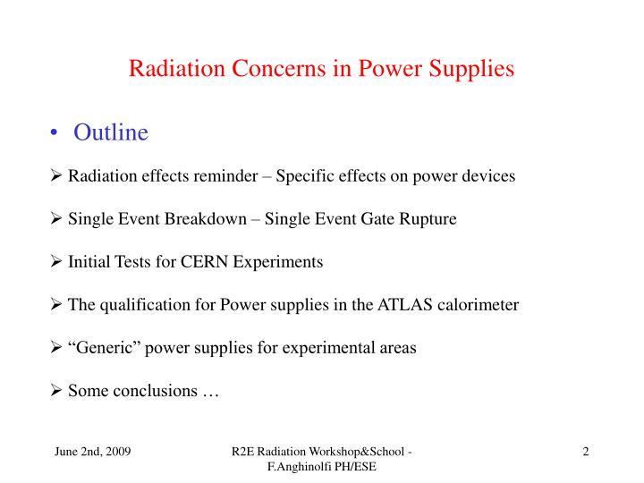 Radiation concerns in power supplies1
