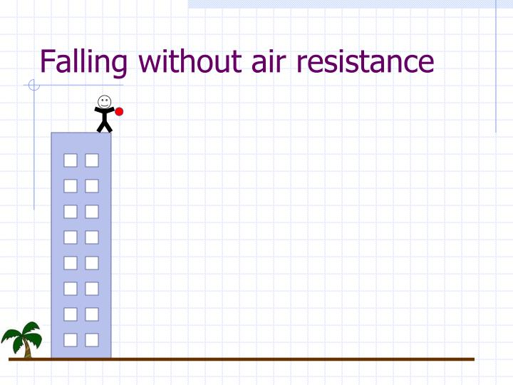 Falling without air resistance