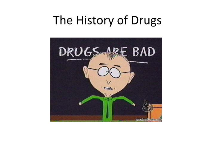 the history of drugs n.