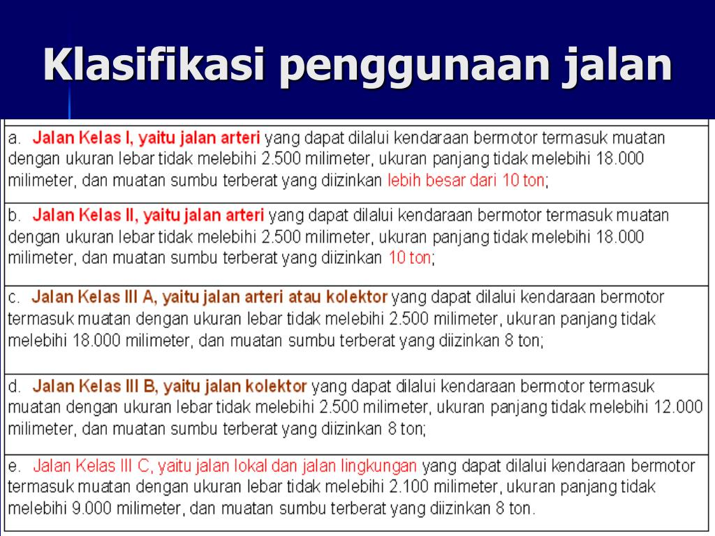 PPT - Klasifikasi Jalan PowerPoint Presentation, free ...