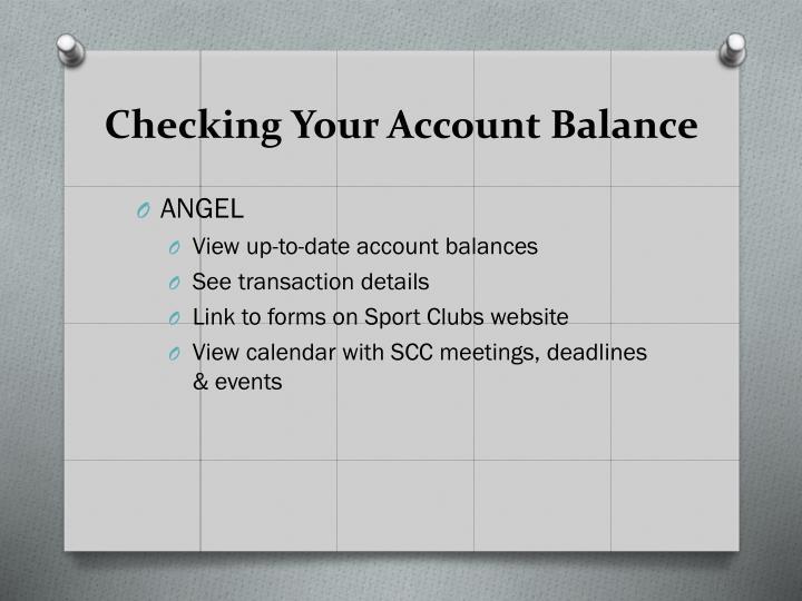 Checking Your Account Balance