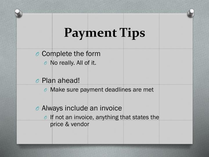 Payment Tips