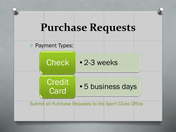 Purchase Requests