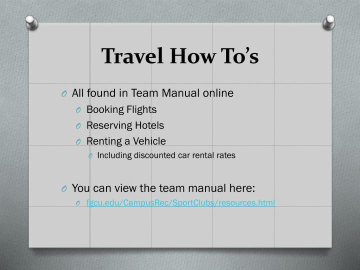 Travel How