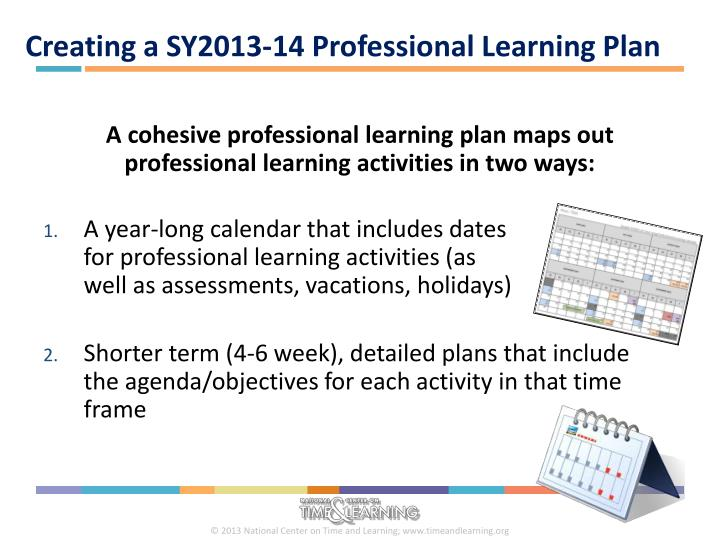 Creating a SY2013-14 Professional Learning Plan