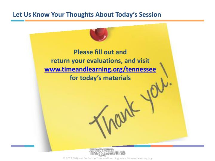 Let Us Know Your Thoughts About Today's Session