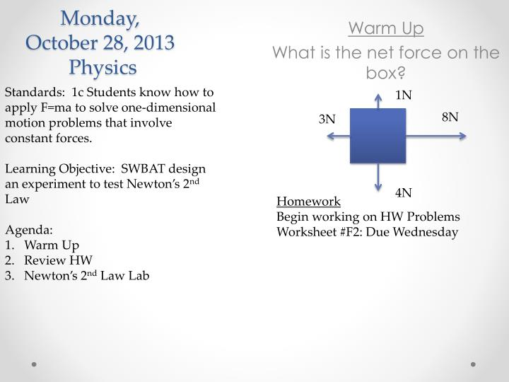 PPT - Monday, October 28, 2013 Physics PowerPoint ...