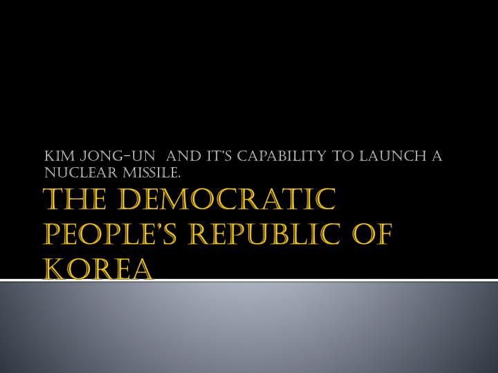 kim jong un and it s capability to launch a nuclear missile n.