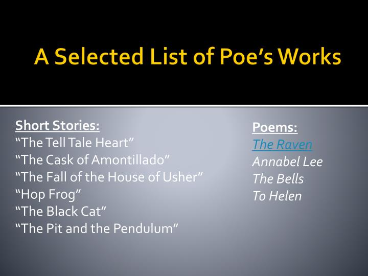 a summary of poes story the tell tale heart This document contains a complete dark tales: edgar allan poe's the tell-tale heart game walkthrough featuring annotated screenshots from actual gameplay we hope you find this information useful as you play your way through the game.