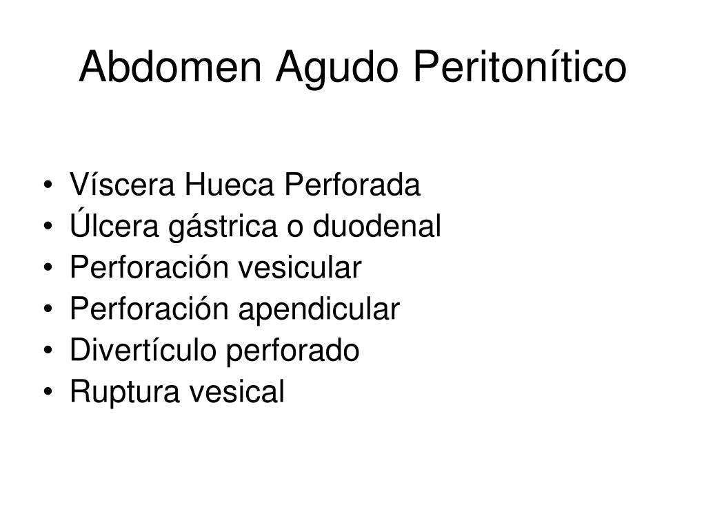 Abdomen agudo medico definicion