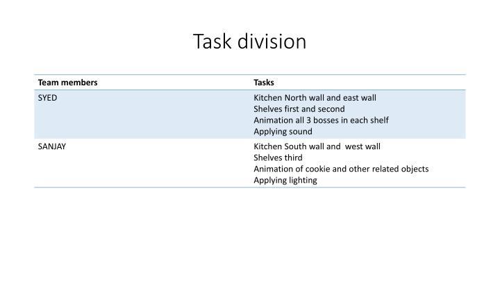 Task division