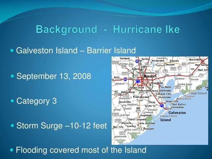 Background hurricane ike