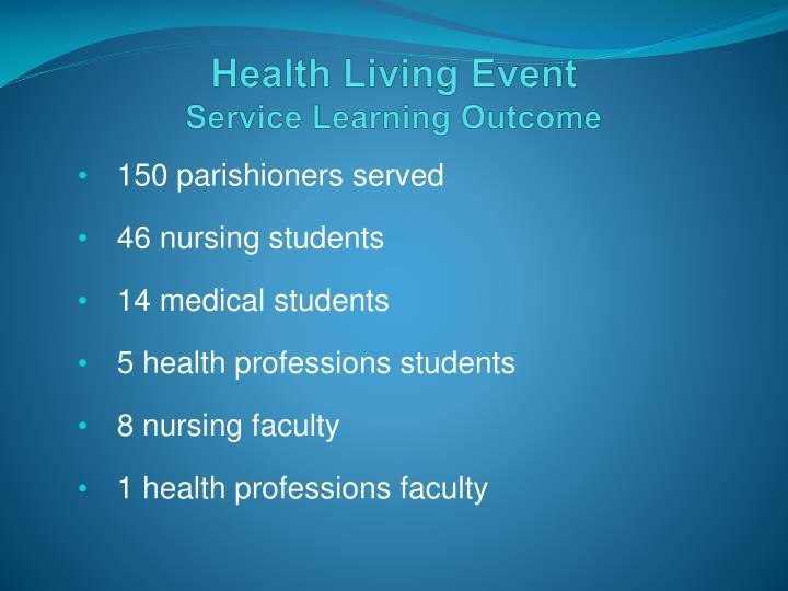Health Living Event