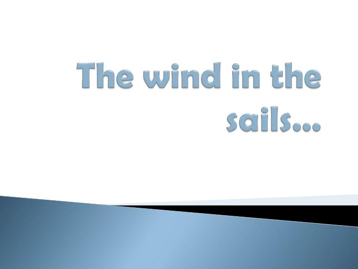 the wind in the sails n.