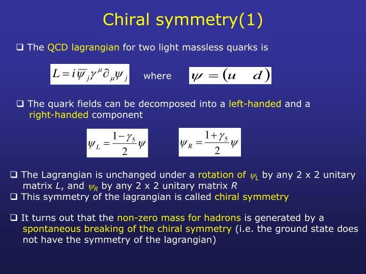 Chiral symmetry(1)