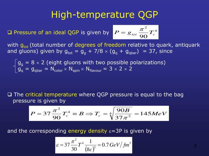 High-temperature QGP