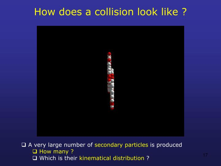 How does a collision look like ?