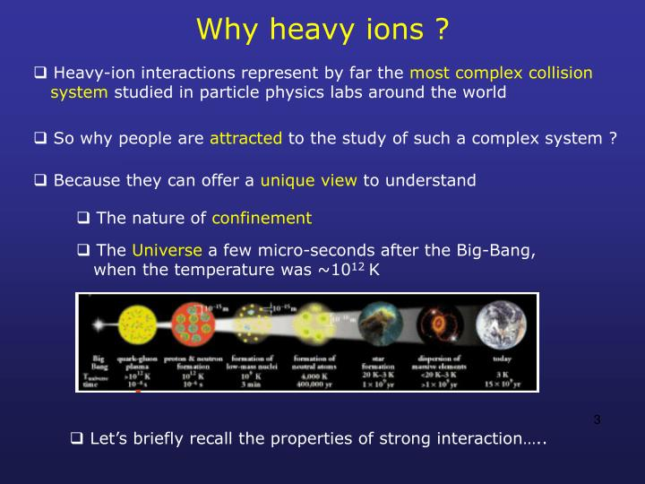 Why heavy ions