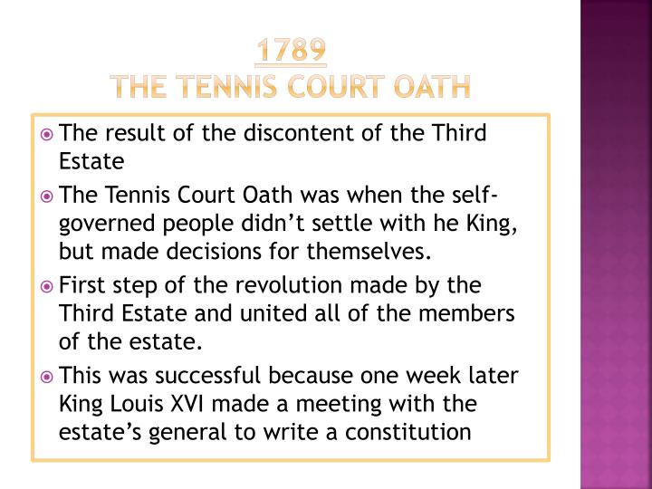 tennis court oath (school speech) essay Mexico independence day essay brief summary of what led the people of mexico to decide to go for its independence they wanted freedom of speech, a representative government, and restrictions on the power of the catholic church.